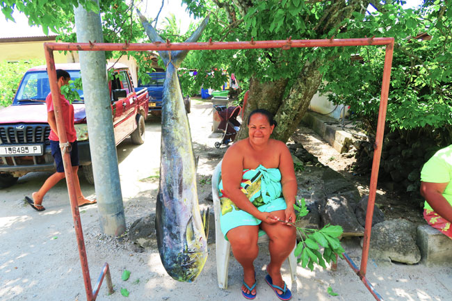 Mahi Mahi fish in Maupiti French Polynesia