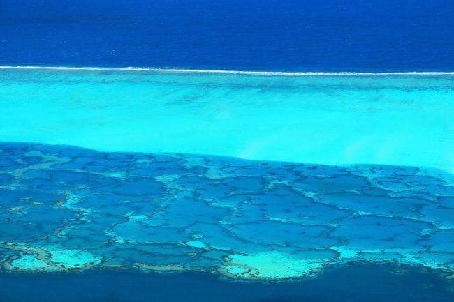 Maupiti Lagoon from summit of Mount Teurafaatiu