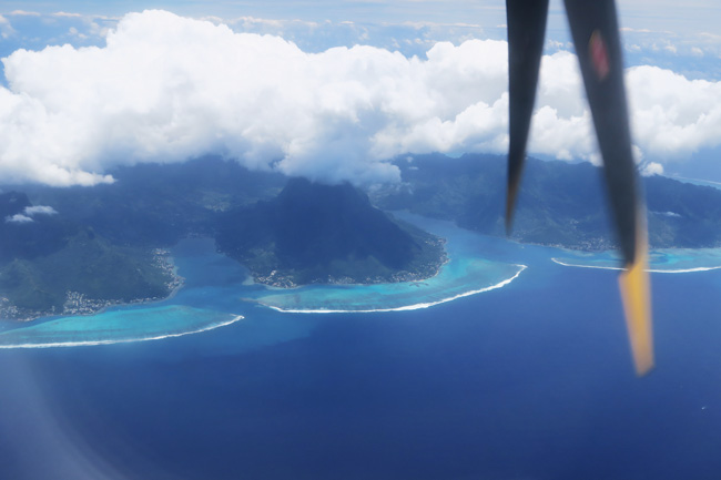 Moorea from the air French Polynesia