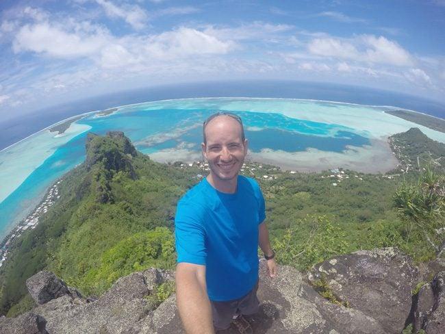 Mount Teurafaatiu selfie Maupiti French Polynesia