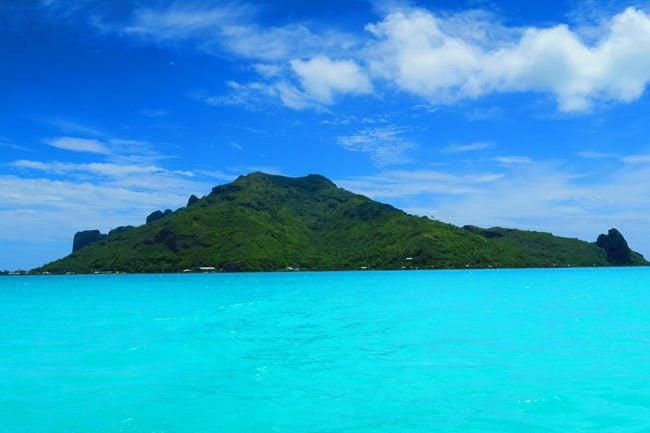 Panoramic view of Maupiti