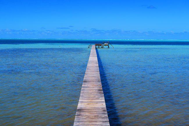 Pension Tautiare Village Maupiti French Polynesia pontoon lagoon side