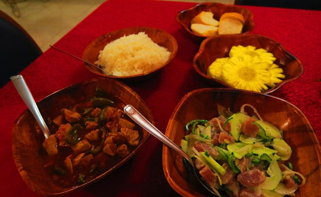 Pension Tautiare Village dinner 3