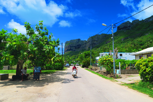 Streets of Maupiti French Polynesia