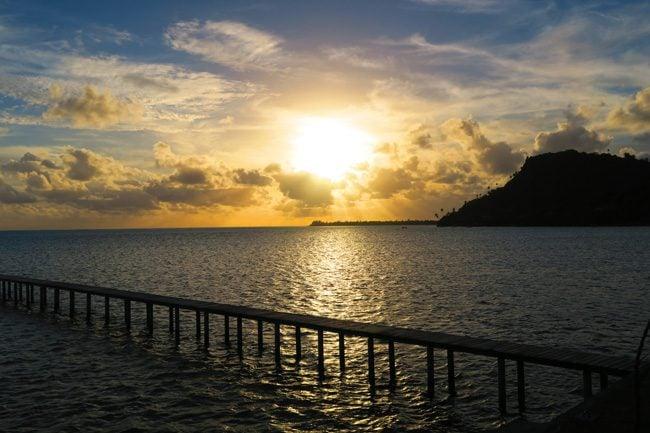 Sunset Maupiti French Polynesia
