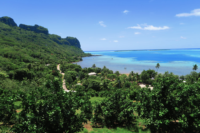 View of Maupiti French Polynesia