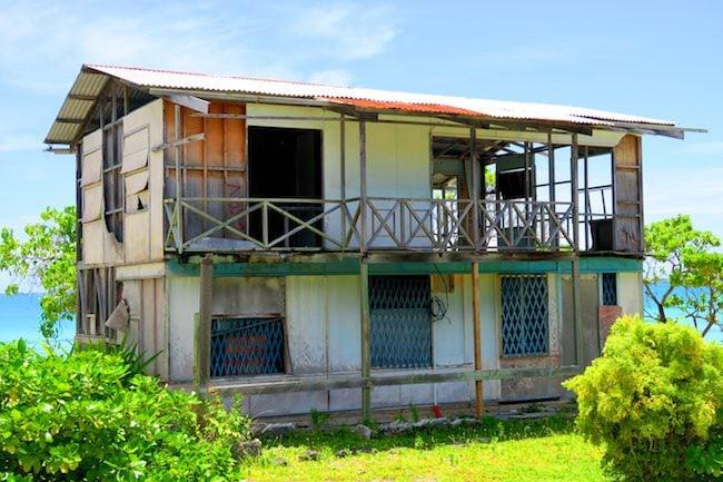 Abandoned building Fakarava Atoll French Polynesia