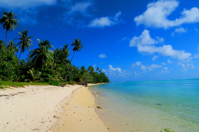 Avea Bay beach Huahine Island French Polynesia