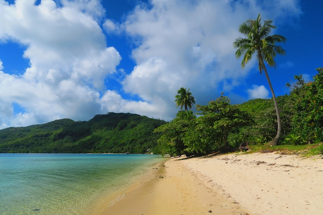 Avea Bay tropical beach Huahine Island French Polynesia