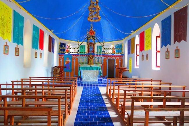 Church Tetamanu Village Fakarava Atoll French Polynesia
