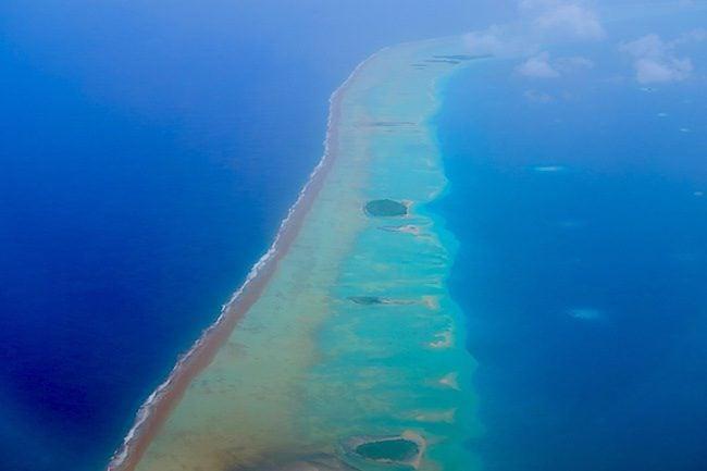 Fakarava Atoll French Polynesia aerial view