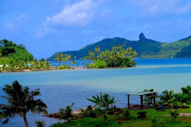 Huahine lagoon French Polynesia