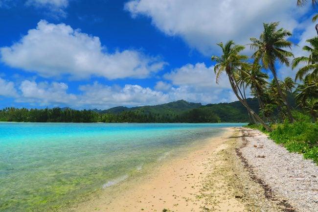 La Cite de Corail beach Huahine Island French Polynesia