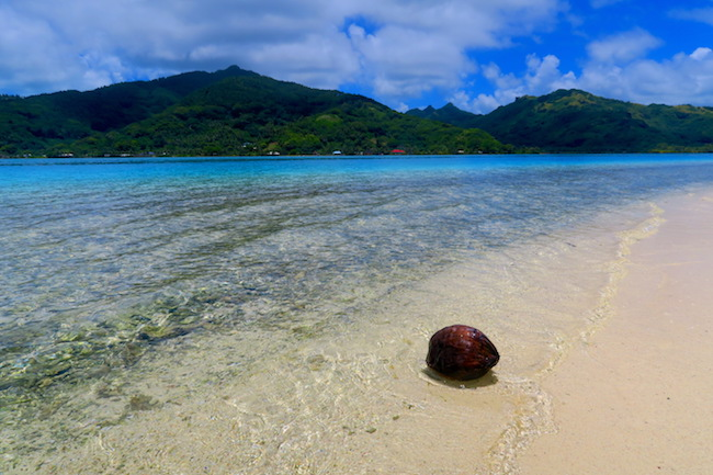 La Cite de corail tropical beach Huahine Island French Polynesia
