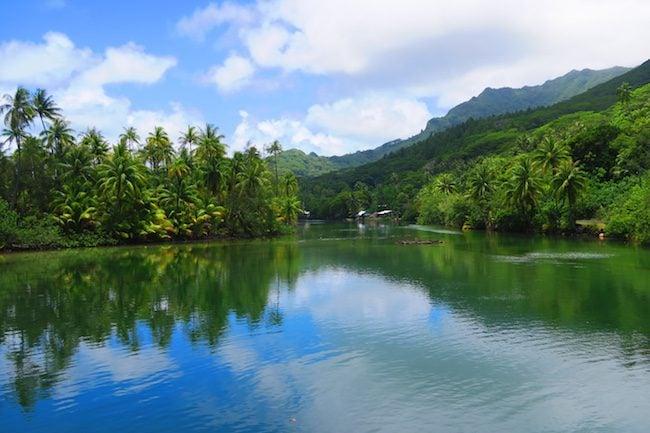 Lake Fauna Nui Huahine Island French Polynesia