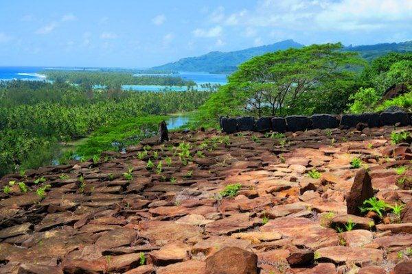 Matariea Hill Marae Huahine Island French Polynesia