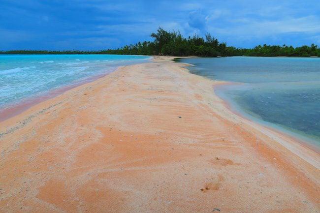 Pink Sand Fakarava Atoll French Polynesia