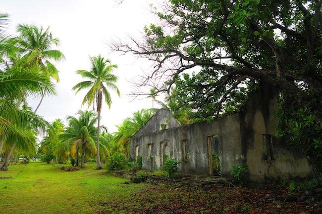 Tetamanu Village abandoned school Fakarava Atoll French Polynesia