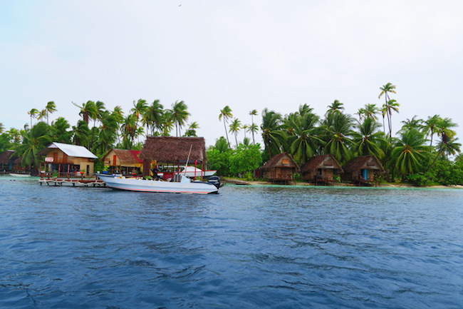 Tetamanu Village ocean side Fakarava Atoll French Polynesia