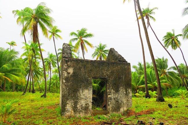 Tetamanu Village old prison Fakarava Atoll French Polynesia