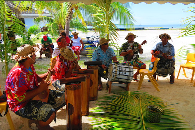Traditional Polynesian music Fakarava Atoll French Polynesia