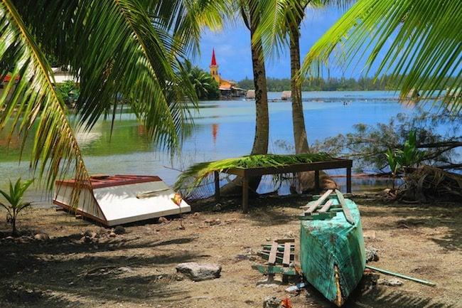 boats Huahine Island French Polynesia