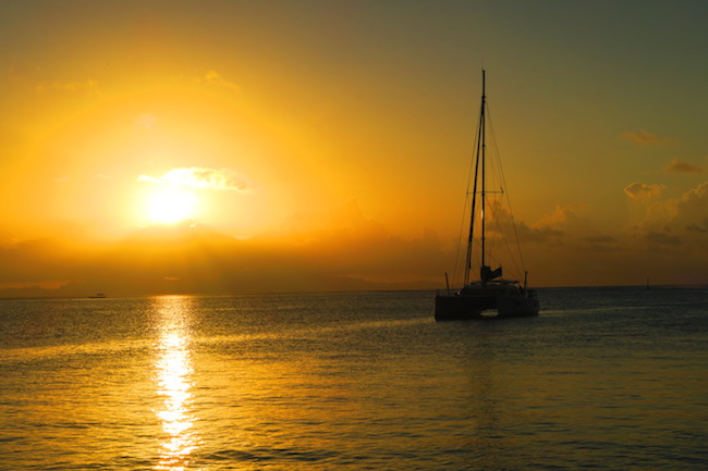 sunset Fare Huahine Island French Polynesia
