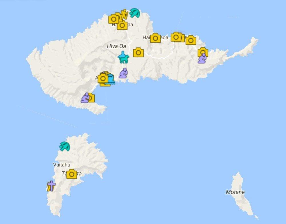 5 Days In Hiva Oa Itinerary Map