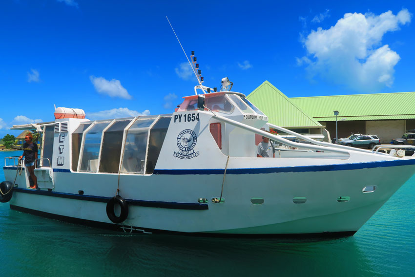 Boat ferry shuttle to Tahaa French Polynesia