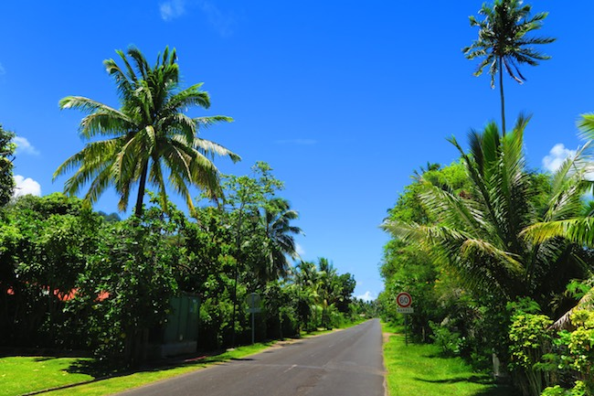 Driving in moorea French Polynesia