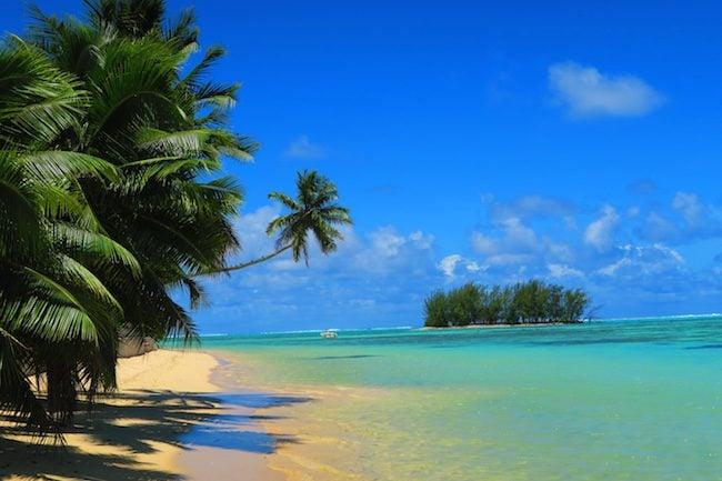 Fare Edith tropical beach Moorea French Polynesia