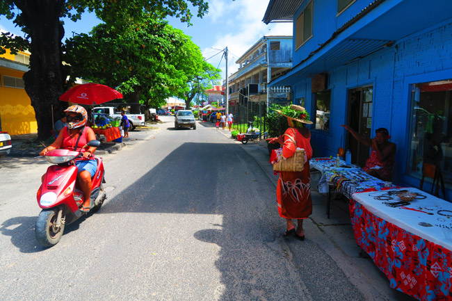 Fare - Typical town in Huahine French Polynesia.JPG