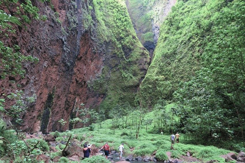 Hakaui Valley approaching Vaipo Waterfall Nuku Hiva Marquesas Islands French Polynesia