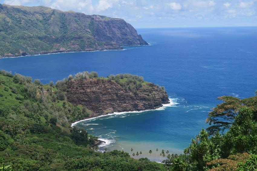 Hiva Oa Marquesas Islands French Polynesia - road to Puamau