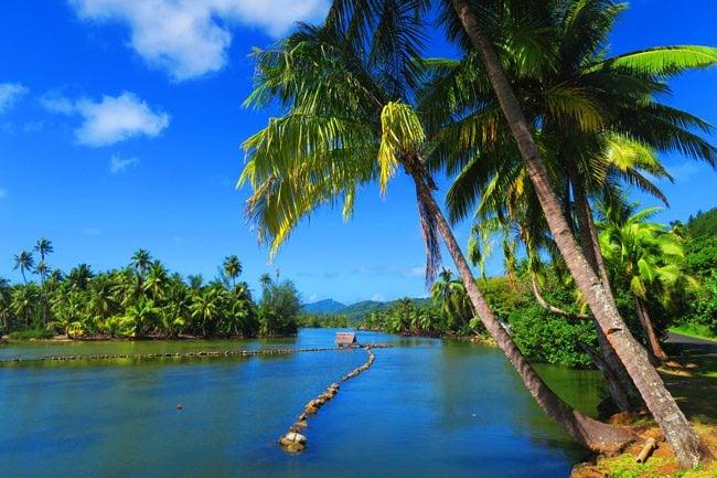 Huahine Island French Polynesia - Ancient Fish Traps