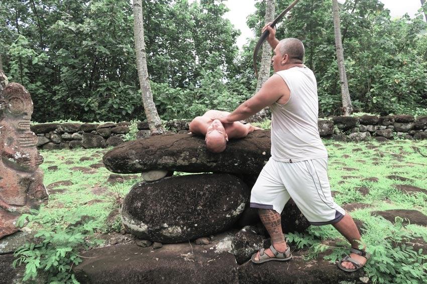 Human sacrifice ceremony by Alvane from Pension Kokuu Nuku Hiva French Polynesia