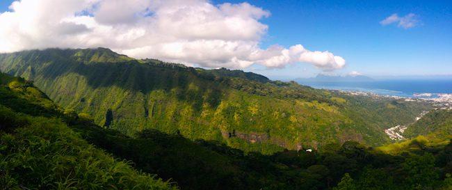 Le Belvedere Tahiti French Polynesia panoramic view