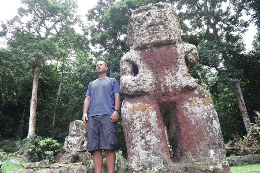 Lipona archeological site Hiva Oa Marquesas Islands French Polynesia massive tiki