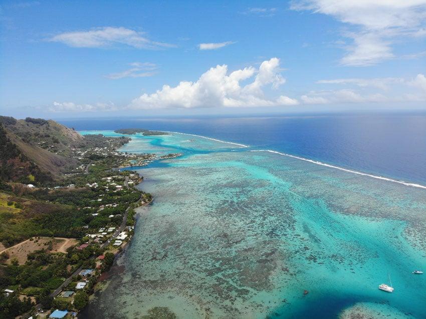 Magic Mountain Moorea French Polynesia - lagoon view