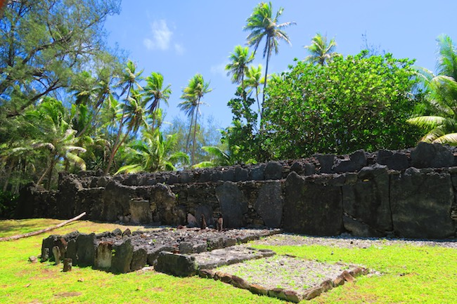 Marae manunu Huahine island french polynesia