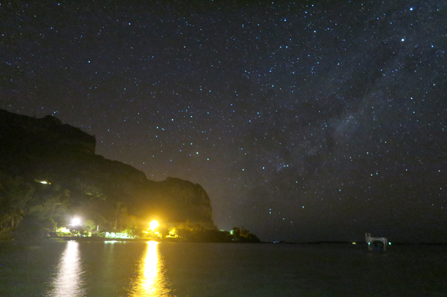 Milky Way over Maupiti French Polynesia