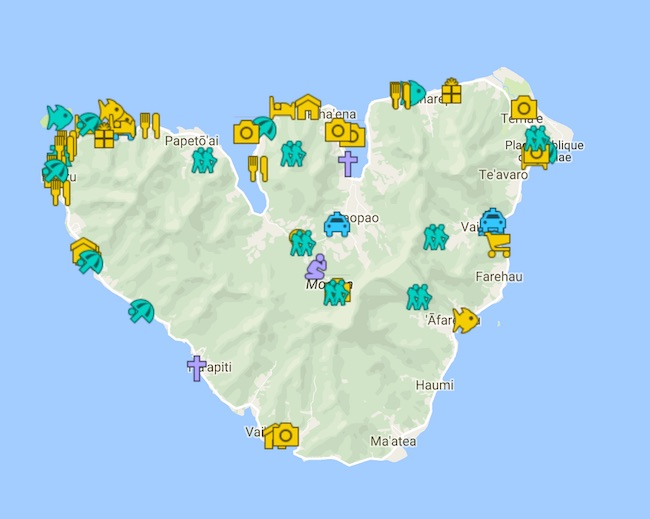 Moorea Travel Guide Map - French Polynesia