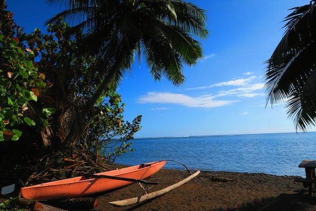 Outrigger canoe Tahiti French Polynesia