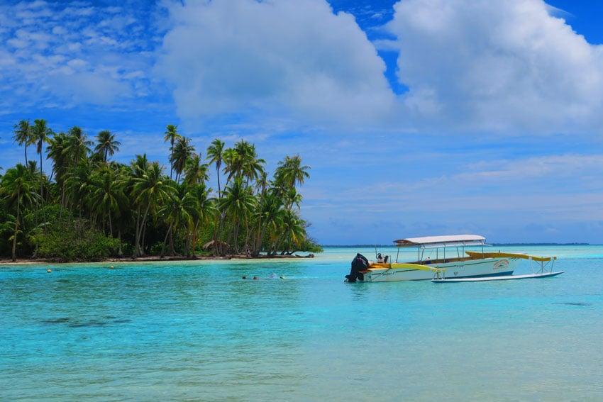 Outrigger canoe in Tahaa French Polynesia