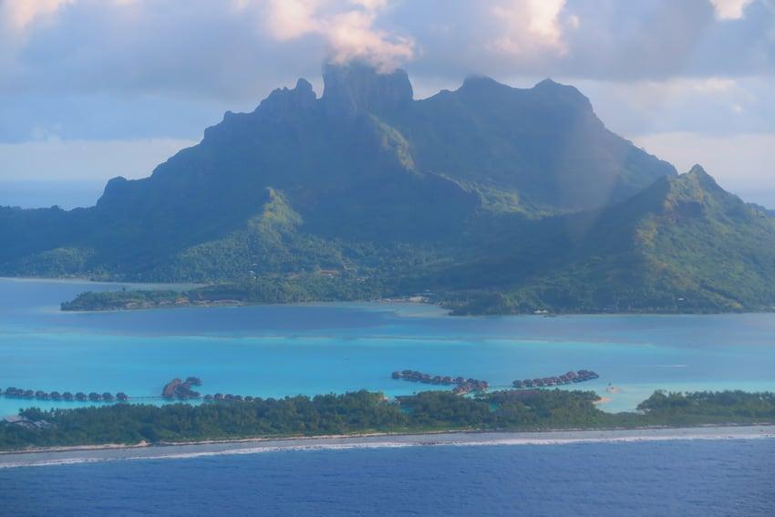 Overwater bungalows of Bora Bora French Polynesia