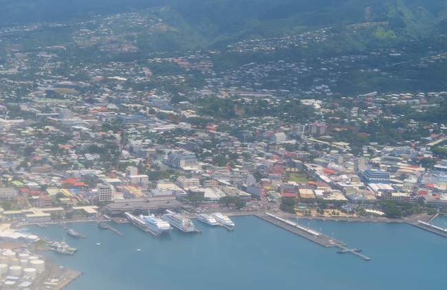 Papeete From The Air - Tahiti French Polynesia
