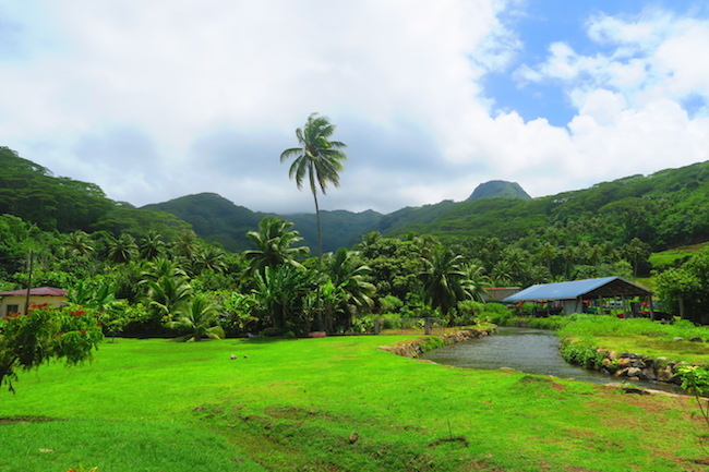Raiatea french polynesia rural scenary