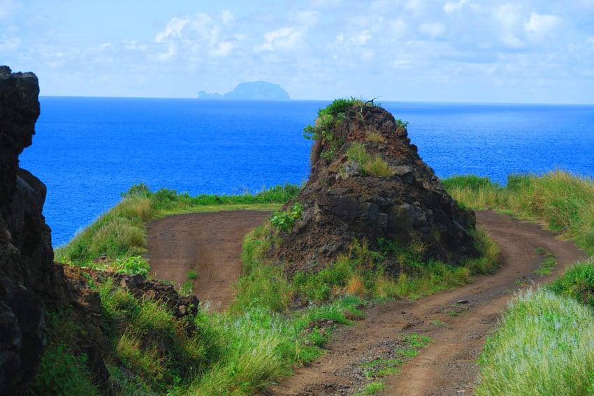 Road trip Hiva Oa Marquesas Islands French Polynesia twisting road