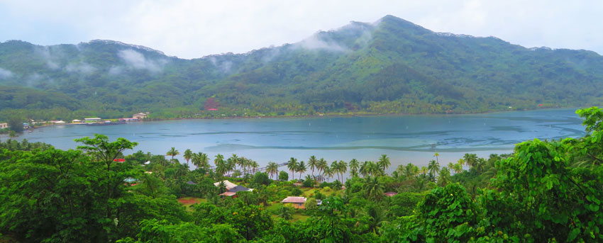 Tahaa French Polynesia panoramic view