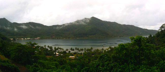 Tahaa Island French Polynesia panoramic view
